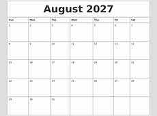 July 2027 Monthly Calendar To Print