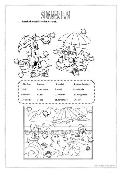 104 Free Esl Summer Worksheets