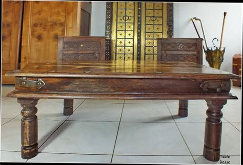 table basse bois massif exotique table basse indienne bois massif palissandre inde meubles