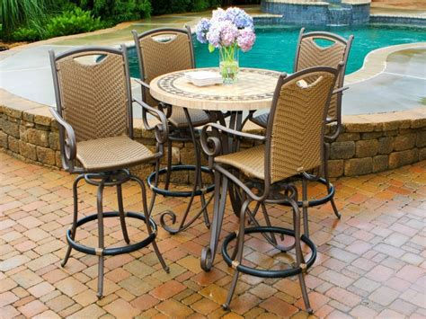 patio patio high top table black modern wooden patio high top table with chairs and