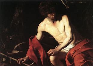 Image result for images caravaggio john the baptist