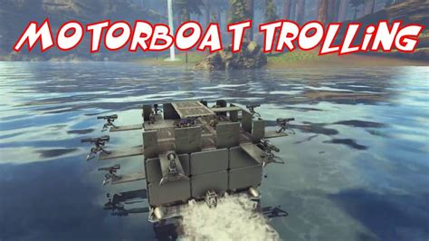 Ark Boat Youtube by Motorboat Trolling Ark Official Pvp Youtube