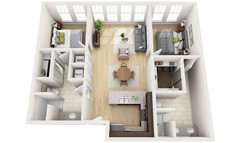 3d floor plan image 2 for the 1 bedroom studio floor plan 2 apartments and condos 171 3dplans
