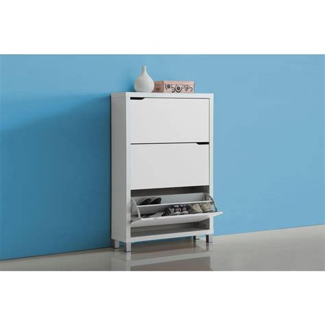 baxton studio simms wood modern shoe cabinet in white 28862 4514 hd the home depot