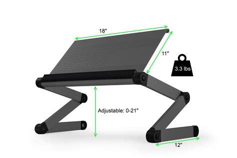 workez executive ergonomic laptop stand monitor riser standing desk notebook