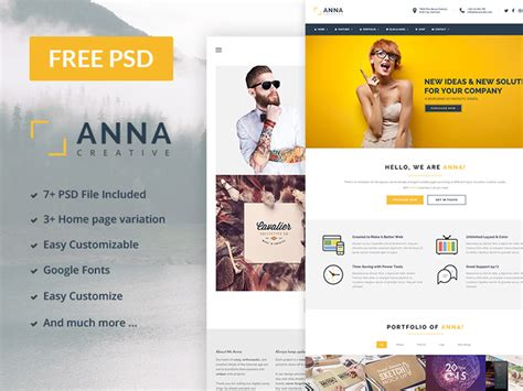 Free Psd Website Templates For Business