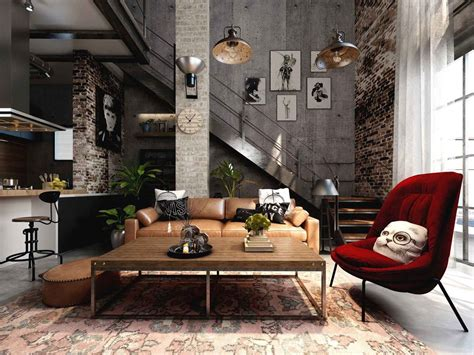 5 Cool And Cosy Industrial Style Homes Best Designs For Small Bathrooms Bathroom Design Nyc Examples Of Grey And White Ideas Teal Vanity With Vessel Sink Simple Spaces Storage In