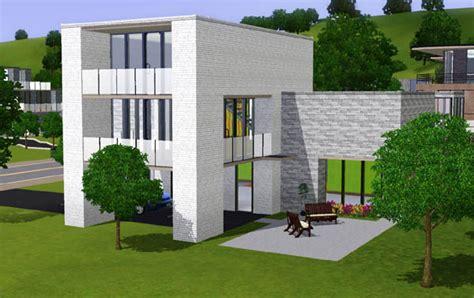 sims 3 maison moderne avec abris auto architecture