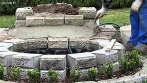 Teich Mit Wasserfall : kleine wasserfall im garten bauen video 1 youtube ~ Markanthonyermac.com Haus und Dekorationen