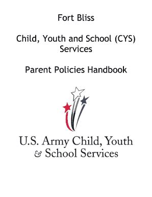 fillable fort bliss child youth and school cys services fort bliss mwr fax email