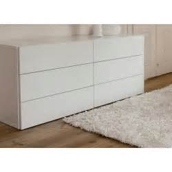 commode blanc laque 6 tiroirs achat vente commode blanc laque 6 tiroirs pas cher les