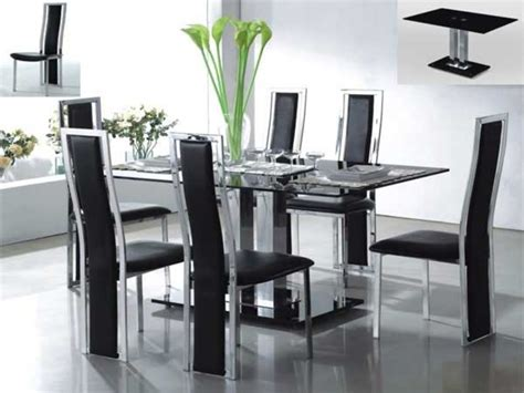 Modern Glass Dining Table And Chairs Ideas / Design