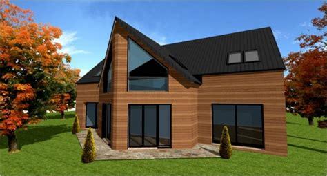 constructeur de maison ossature bois d architecte sur mesure maisons bois foret