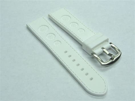U Boat Watch Replacement Parts by 24mm Rubber Strap Watch Band For U Boat 48mm Luminox White