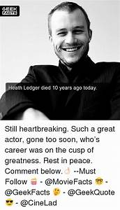 GEEK FACTS Heath Ledger Died 10 Years Ago Today Still ...