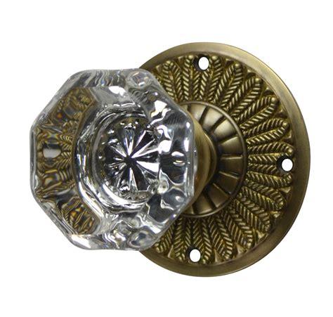 antique brass door knobs antique door knobs feathers plate style antique brass finish