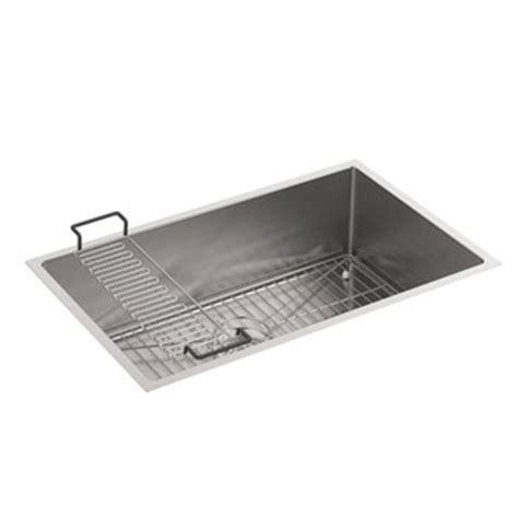 kohler k 5409 na strive 29 in x 18 5 16 in x 9 5 16 in undermount medium single bowl kitchen