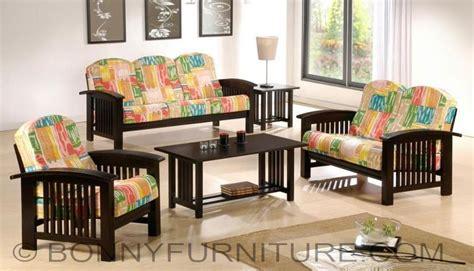 All Purpose Salon Chairs by Slat Wooden Sala Set 311 Bonny Furniture