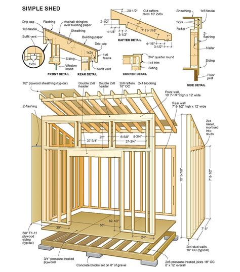 10x12 storage shed plans 10 215 12 shed plans my shed building plans