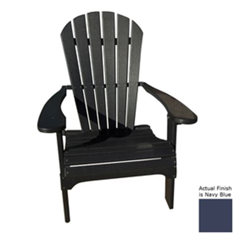 Navy Blue Resin Adirondack Chairs by Shop Navy Blue Recycled Plastic Adirondack