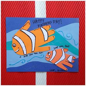 Fish Handprint Father's Day Craft · Kix Cereal