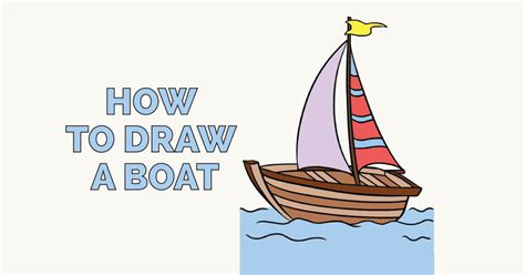How To Draw A Old Boat by How To Draw A Boat In A Few Easy Steps Easy Drawing Guides