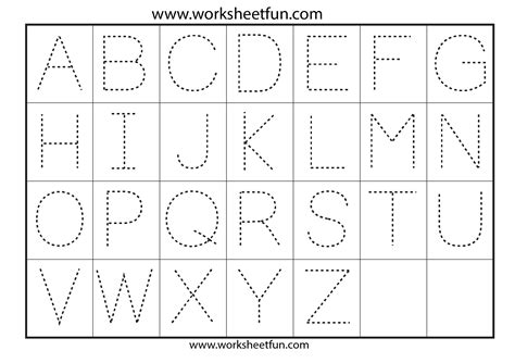 Letter Tracing  7 Worksheets  Free Printable Worksheets Worksheetfun