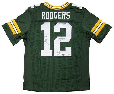 Aaron Rodgers Signed And Inscribed Green Bay