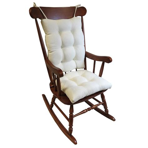 gripper omega ivory jumbo rocking chair cushion set 849307xl 20 the home depot