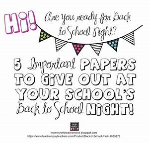 Life As I Know It...: Back to School Parent Info Packet ...