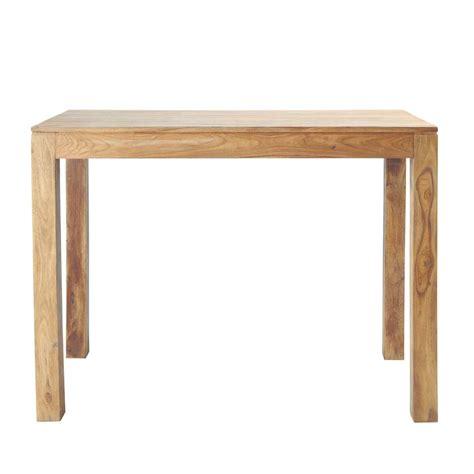 table haute de salle 224 manger en bois de sheesham massif l 150 cm stockholm maisons du monde