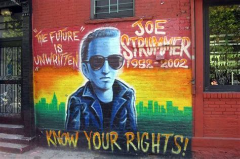 joe strummer mural removed in east to be repainted