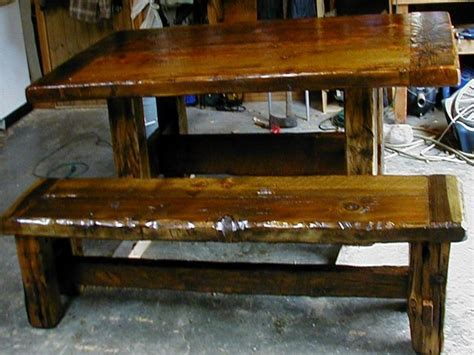 Wood Dining Benches, Rustic Farmhouse Dining Table Rustic