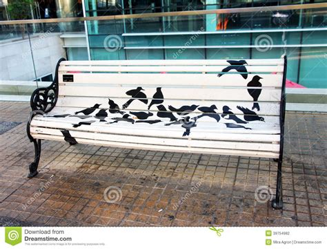 Painted Bench Editorial Photography  Image 39754982