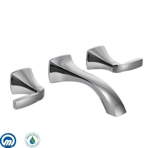 Moen Voss Faucet Direct by Moen T6906 Chrome Handle Wall Mount Bathroom Faucet