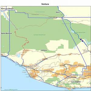 Ventura County, CA | California Maps - Map of California ...