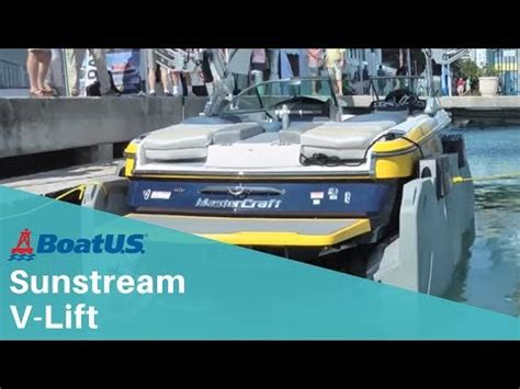 Sunstream Boat Lift Youtube by Sunstream V Lift Youtube