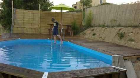 mise en place piscine semi enterr 233 e leroy merlin