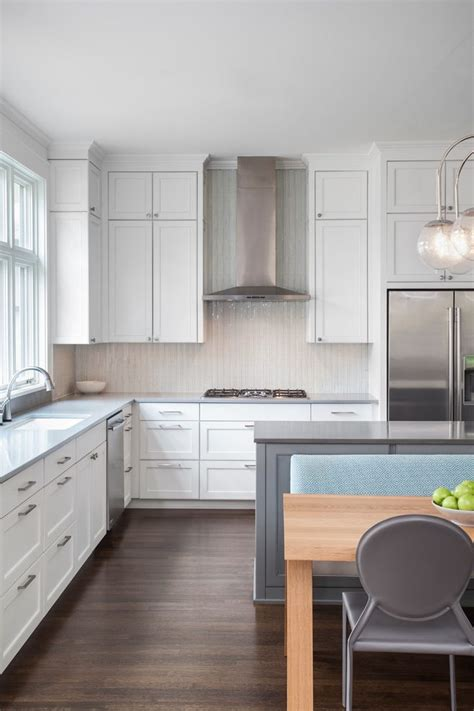 forevermark white shaker cabinets kitchen transitional with darien pendant contemporary