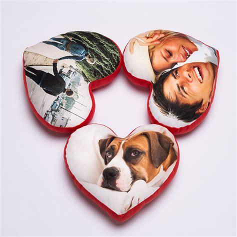 coussin en forme de coeur coussin coeur personnalis 233 avec photos