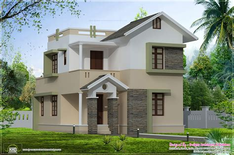 Small Villa Plan  House Plans #3716