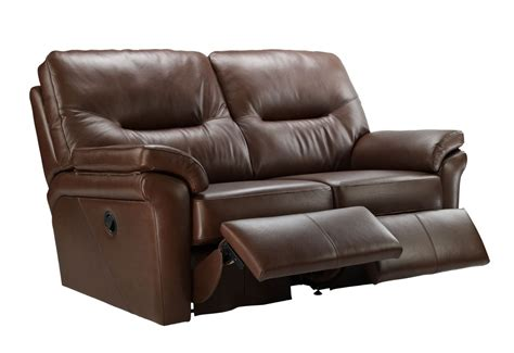 G Plan Washington Leather 2 Seater Double Recliner Sofa