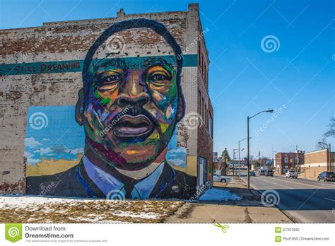 martin luther king mural on toledo ohio editorial image image 67391690