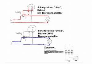 Lampe Mit Bewegungsmelder Und Schalter : schaltung so ok ~ Markanthonyermac.com Haus und Dekorationen