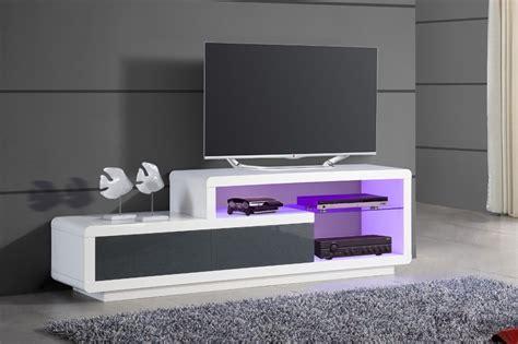 meuble tv bas design blanc laque cocon