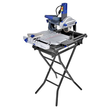 shop kobalt 7 in slide tile saw with stand at lowes