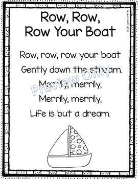 Row Your Boat Lyrics Az by Best 25 Rhyming Poems Ideas On Pinterest Kids Rhyming
