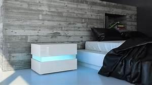Nachtkonsole Weiß Hochglanz : nachttisch nachtkonsole kommode flow in wei oder schwarz hochglanz ebay ~ Markanthonyermac.com Haus und Dekorationen