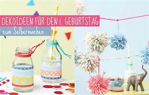Dekoideen Zum Selbermachen : deko zum 1 geburtstag selbermachen tambini ~ Markanthonyermac.com Haus und Dekorationen