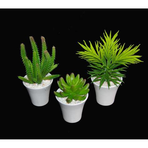 cactus artificiel en pot 18 cm cactus plantes grasses artificiels reflets nature lyon